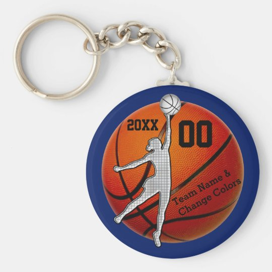 Cheap Personalised Gifts for Girls Basketball Team Key Ring