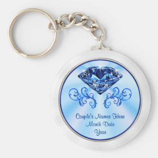 Cheap Personalized Sapphire Party Favors Key Ring