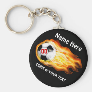 CHEAP Personalized Soccer Team Gifts Under $5.00 Basic Round Button Key Ring