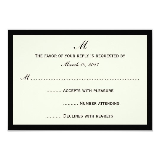 Cheap RSVP Invitation Cards Your Colour Border