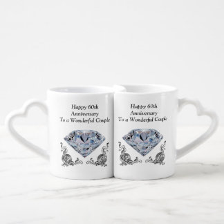 Cheap Unique Diamond Wedding Anniversary Gifts Coffee Mug Set