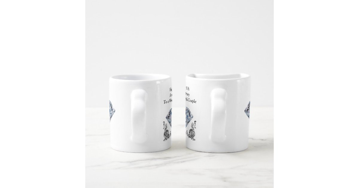 Unique Wedding Gifts Cheap : Cheap Unique Diamond Wedding Anniversary Gifts Coffee Mug Set Zazzle