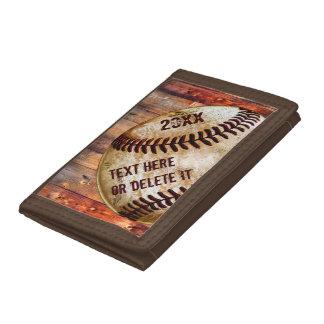 Cheap Vintage Baseball Wallet, Baseball Team Gifts Tri-fold Wallet