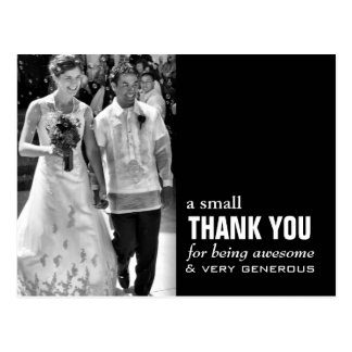Cheap Wedding Thank You Card - Photo Funny!