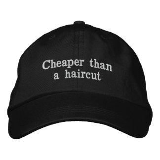 Cheaper than a haircut embroidered hat