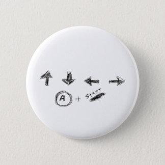 Cheat Code 6 Cm Round Badge