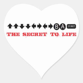 Cheat Code Heart Sticker