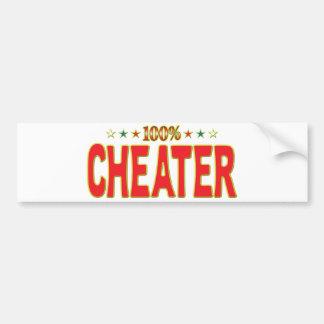 Cheater Star Tag Bumper Sticker