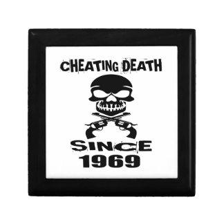 Cheating Death Since 1969 Birthday Designs Gift Box