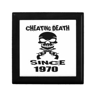 Cheating Death Since 1970 Birthday Designs Gift Box