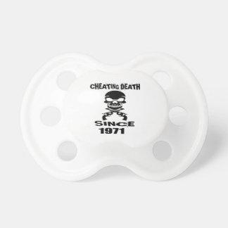 Cheating Death Since 1971 Birthday Designs Dummy