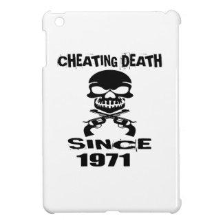 Cheating Death Since 1971 Birthday Designs iPad Mini Case