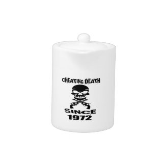 Cheating Death Since 1972 Birthday Designs