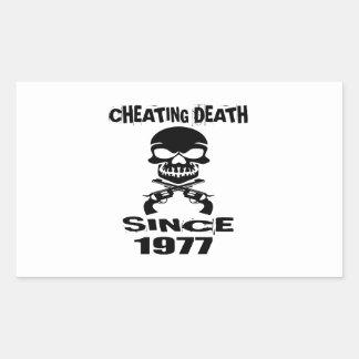 Cheating Death Since 1977 Birthday Designs Rectangular Sticker