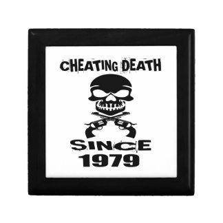 Cheating Death Since 1979 Birthday Designs Gift Box