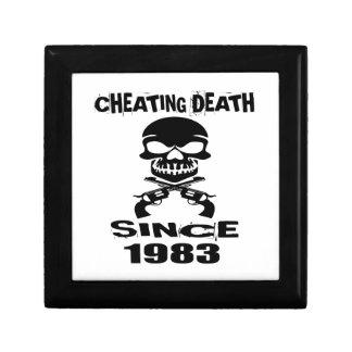 Cheating Death Since 1983 Birthday Designs Gift Box