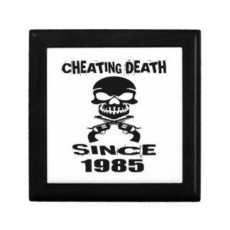 Cheating Death Since 1985 Birthday Designs Gift Box