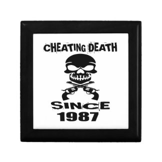 Cheating Death Since 1987 Birthday Designs Gift Box