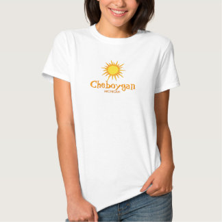 Cheboygan, Michigan - Ladies Baby Doll (Fitted) Shirts