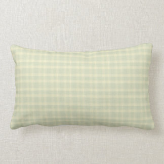 Check Celery and Cream Indoor Lumbar Pillow