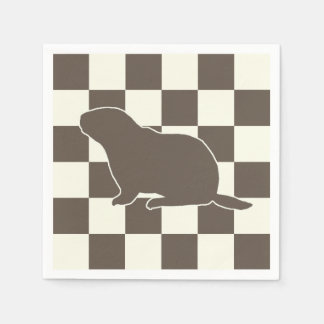 Check Me Out Groundhog Day Party Paper Napkins