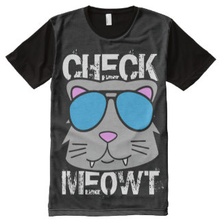 Check Meowt All-Over Print T-Shirt