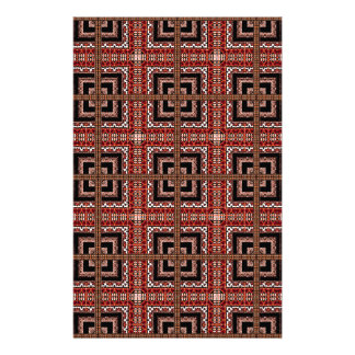 Check Ornate Pattern Stationery