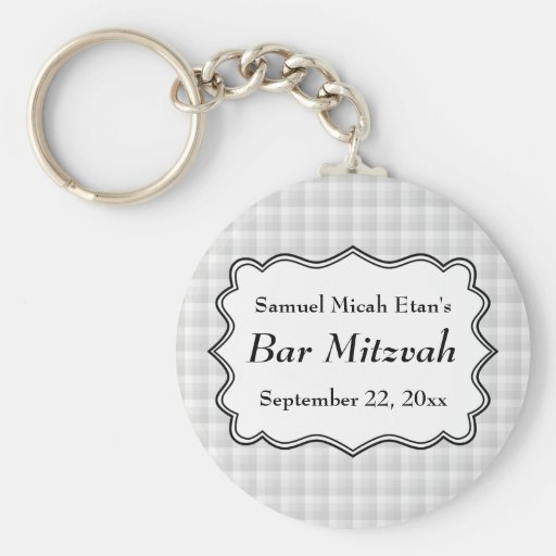 Check Pattern Bar Mitzvah Key Chains
