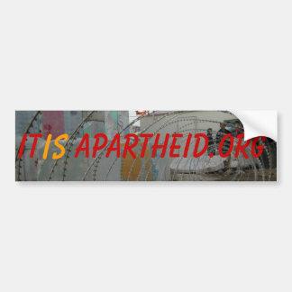 check point, It, is, Apartheid.org Bumper Sticker