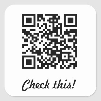 Check this QR code Square Sticker