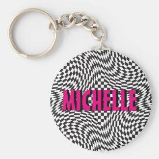 Check Twist Key Ring