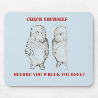 Check Yourself mouse pad