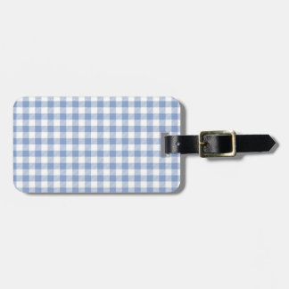 Checked Blue Gingham Luggage Tag