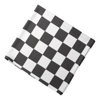 Checker Board (DIY Background Color) Bandana