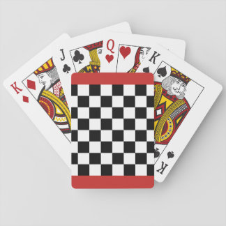 Checker Chess Board Playing Cards