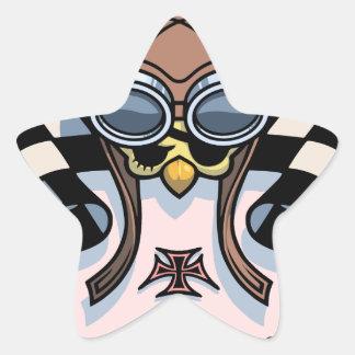 Checker Chick III Star Sticker