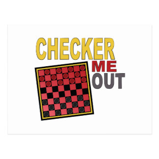 Checker Me Out Postcard