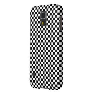Checker Square Illusion Black and White Galaxy S5 Covers