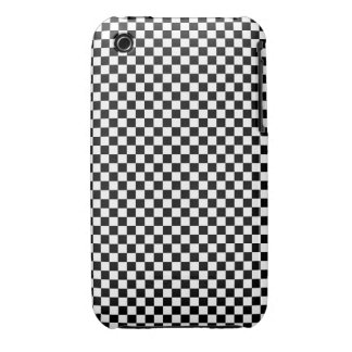 CHECKERBOARD! (a black & white pattern design) ~ iPhone 3 Case-Mate Cases