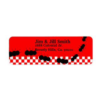 Checkerboard Ants Return Address Label