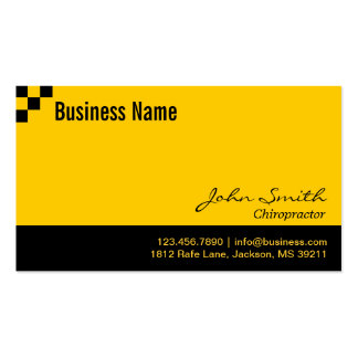 Checkerboard Chiropractor Business Card