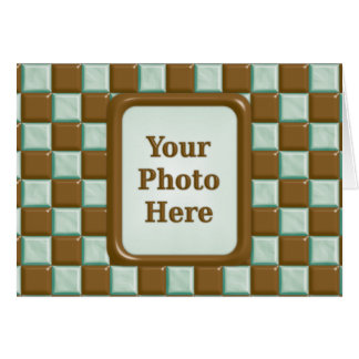 Checkerboard - Chocolate Mint Card