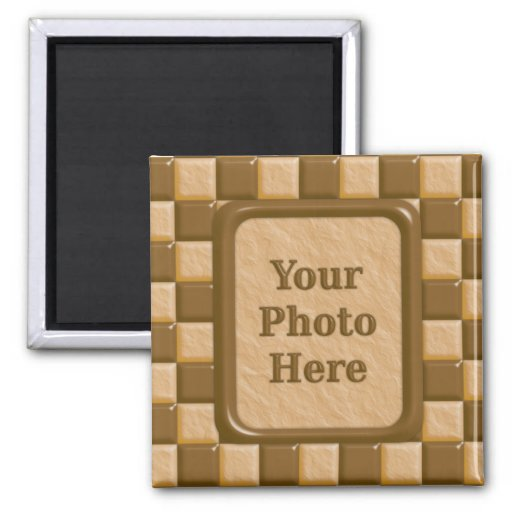 Checkerboard - Chocolate Peanut Butter Fridge Magnet