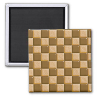 Checkerboard - Chocolate Peanut Butter Square Magnet