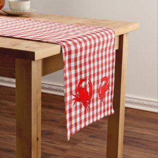 Checkerboard Crabs Table Runner