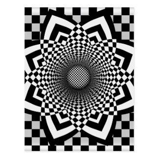 Checkerboard Flare Postcard