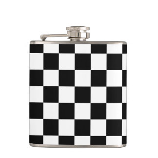 Checkerboard Hip Flask
