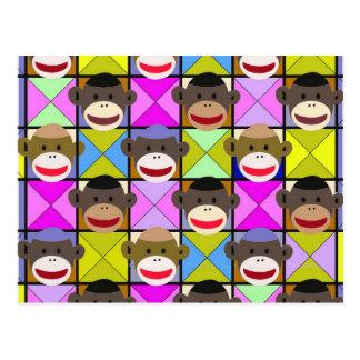 Checkerboard Monkeys. Postcard