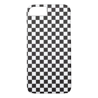 Checkerboard Pattern Black and White iPhone 7 Case