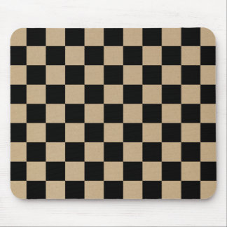 Checkerboard pattern, grid pattern, black squares mouse pad